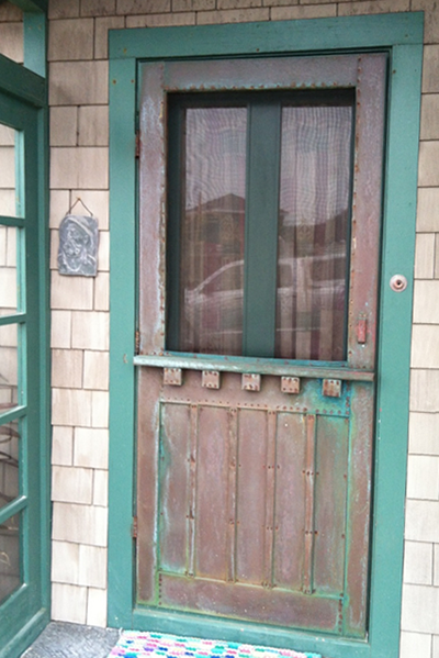Copper Screen Door